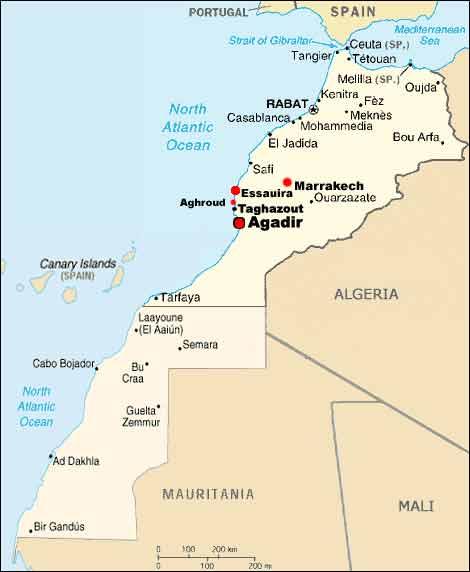 essaouira marokko klimatabelle